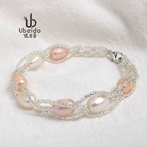 2018 new bracelet female natural freshwater pearl bracelet jewelry fashion temperament bracelet net red forest simple bracelet