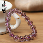 Three edge card treasure Brazil natural Crystal Amethyst bracelet bracelets jewelry clear female birthday gift