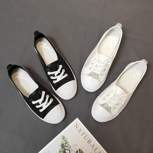阳光姐妹2020夏新款蕾丝平底小白鞋镂空网纱女鞋透气百搭休闲单鞋
