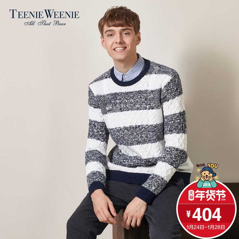 TeenieWeenie小熊2017冬季男装韩版长袖时尚毛衣针织衫TNKW78V03I