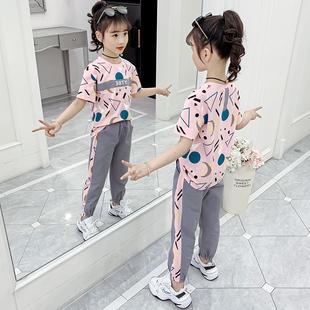 女童运动套装夏装2020新款洋气中大童夏季短袖两件套潮童衣服8岁9图片