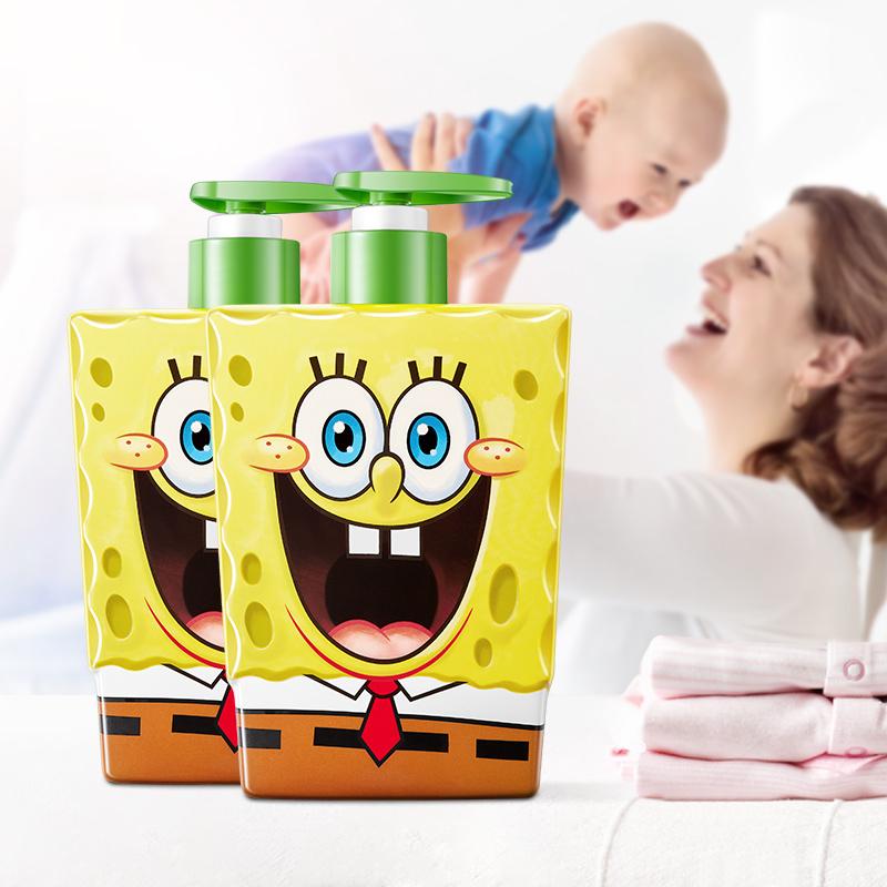 海绵宝宝婴儿沐浴露儿童洗发水二合一新生洗护专用婴幼儿洗沐正品