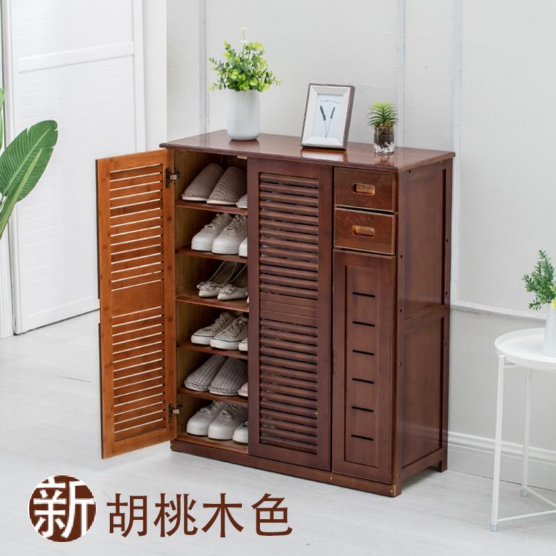实木鞋柜楠竹鞋架多层简易现代鞋柜简约收纳客厅玄关多功能门厅柜