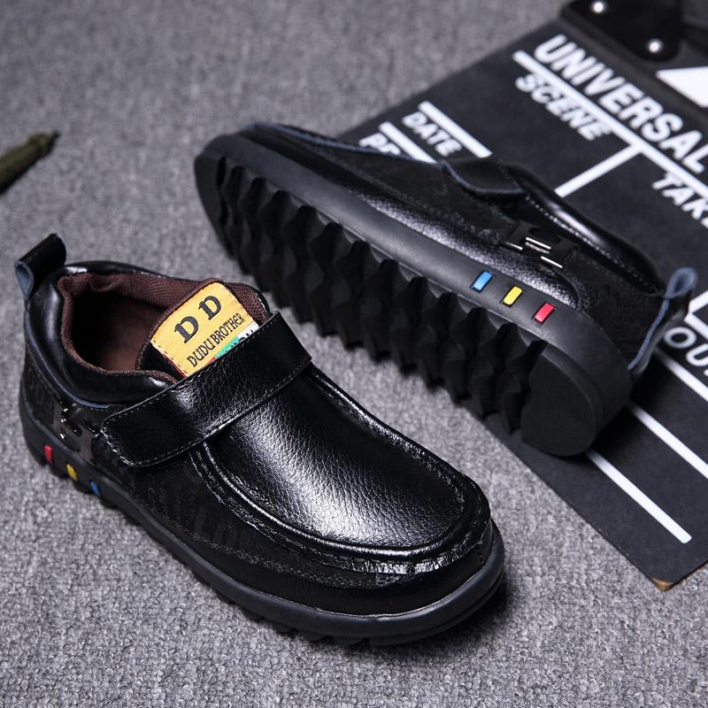 男童皮鞋2017新款潮春秋季童鞋英伦风儿童黑色休闲小男孩鞋子