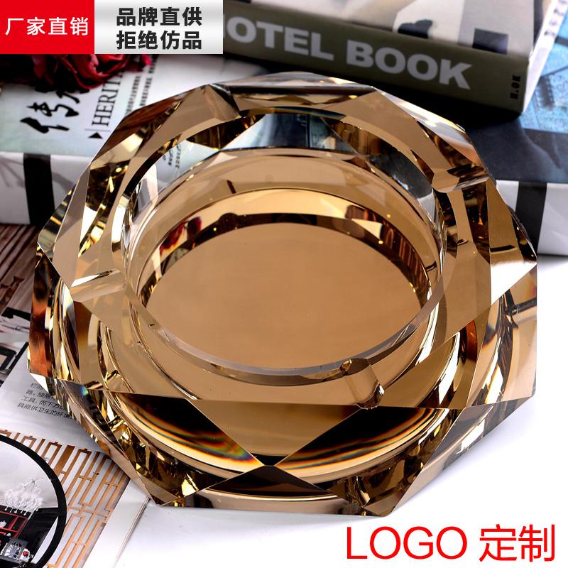 高档水晶烟灰缸 时尚创意个性礼品 大号实用定制精品欧式烟灰缸