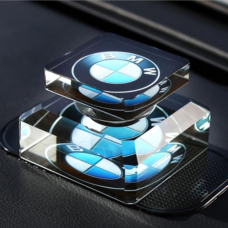汽车香水 创意车标水晶车载香水座汽车用品摆件定做车用饰品