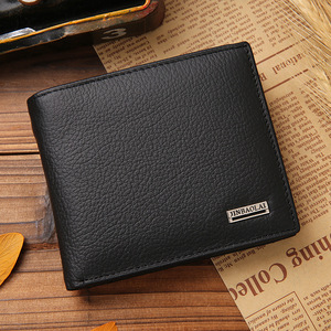 Men's Bag Short Men's Wallet First Layer Cowhide Leather Wallet Coin Bag Small Coin Purse Multifunctional Card Case