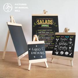 桌面木质摆地摊小黑板立式迷你咖啡餐厅奶茶店写字广告展示菜单牌