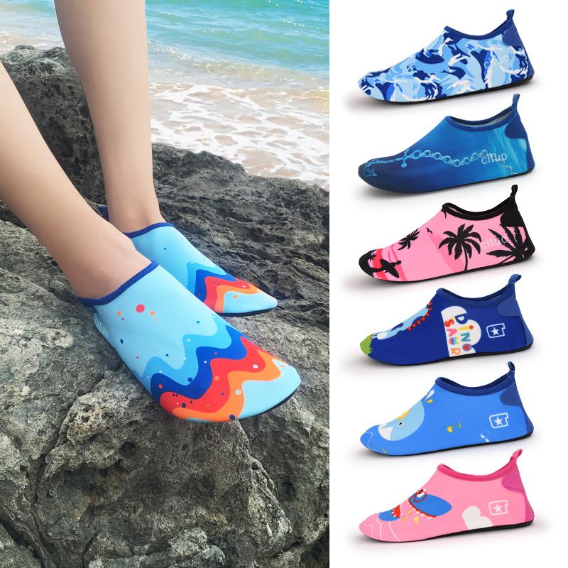男女沙滩袜鞋泰国海边度假潜水浮潜游泳鞋儿童防滑软底涉水溯溪鞋