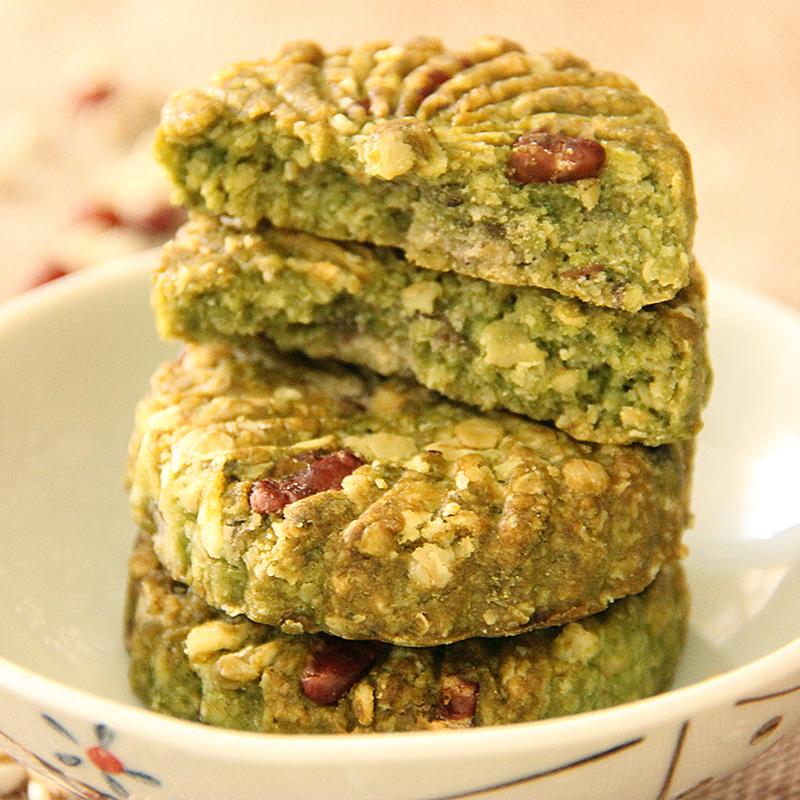 抹茶薏米红豆燕麦饼干全麦粗粮卡脂热饱腹健身代餐糖尿人低零食品