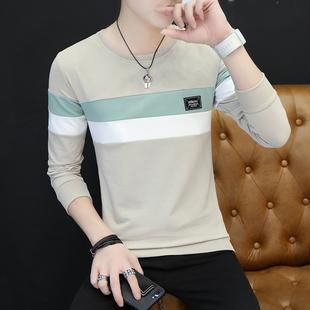 秋季男士长袖T恤圆领韩版潮流打底衫青年上衣服男装卫衣外穿小衫