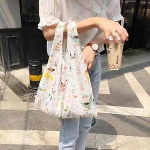 夏小清新环保袋手提购物袋韩版可爱森系女包单肩背心包手提袋包包图片