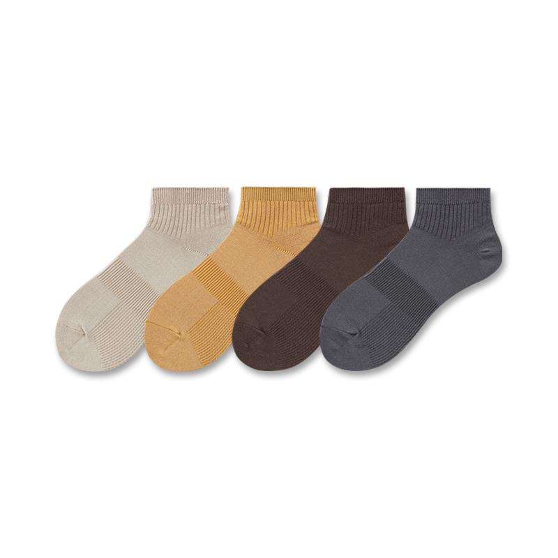 LIFEDIFF春夏季全棉男士短袜简约纯色舒适吸汗运动袜男士薄款袜子