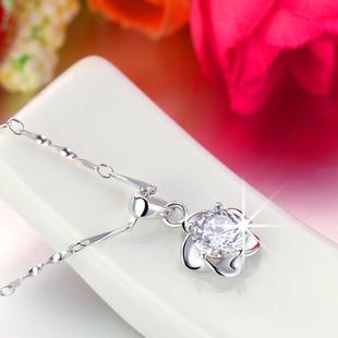 项链女日韩国925纯银同款式吊坠时尚短款锁骨配饰生日情人节礼物