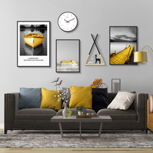 Contemporary Simple Nordic Style Living Room Sofa Background Wall Decoration Painting Creative Combination