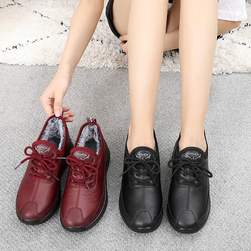 老北京布鞋女冬季运动休闲女防滑加绒棉鞋老人奶奶软底妈妈鞋保暖