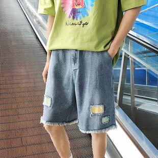 MPSTUDIOS原创sszo 港风潮流美丽的脏话混搭模范生mboy破洞牛短裤