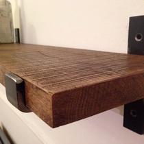 铁艺三角托架隔板支架一字搁板置物架壁挂墙上机顶盒架实木支撑架