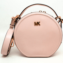 Michael Kors Bag 2019 New MK Women's Bag One Shoulder Slant Hand-held Small Round Bag Retro Fashion