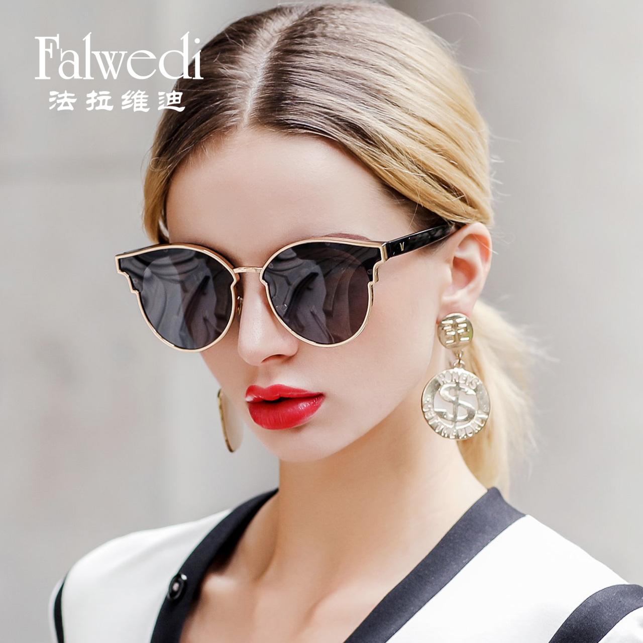 墨镜女2018新款韩版偏光太阳镜女潮圆脸个性防紫外线大框方脸眼镜