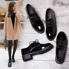黑色(小)皮鞋女202as6新式春秋es日系jk复古英伦风女鞋平底单鞋