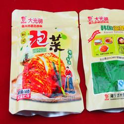 大光明正宗韩国手工辣白菜韩国泡菜168g私房菜下饭菜泡菜酱菜咸菜