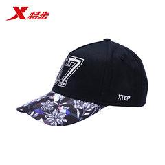 【3件99】特步男女运动帽四季街头搭配花纹字母时尚潮流遮阳帽