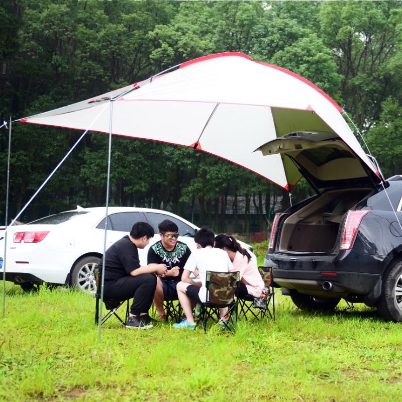 Deeliz汽车天幕帐篷户外遮阳棚雨蓬车载野营露营野外沙滩加厚帐篷
