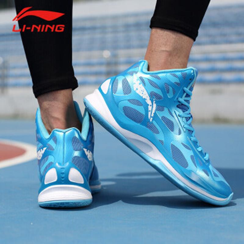 李宁男鞋篮球鞋冬秋季音速3高帮篮球战靴球鞋运动鞋男ABPK021 QC