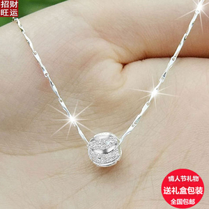 Clavicle chain soft necklace female four-leaf clover pendants Japan and South Korea simple jewelry sent girlfriend birth