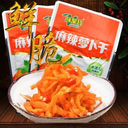 味聚特麻辣萝卜干榨菜酱腌菜泡菜酱菜脱水蔬菜80g