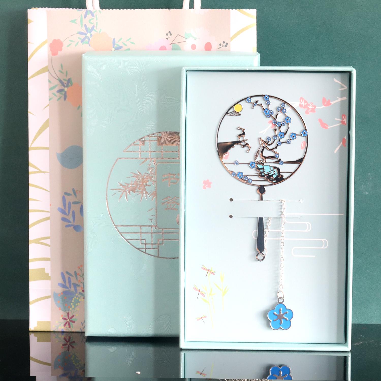 金属书签刻字古典中国风精美礼物故宫文创简约文艺学生用古风创意