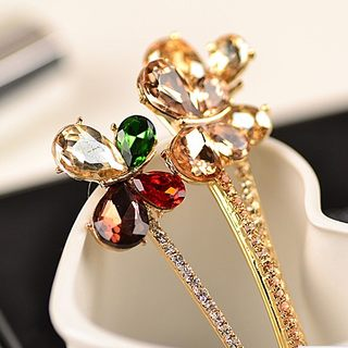 Good jewelry authentic Korean butterflies rhinestone clip hair hair clip free shipping