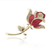Package mail A095 compose good authentic Korean version of rose flower brooch rhinestone flower brooch new Korea jewelry pins