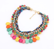 Package mail K157 fine jewelry in Europe and Korean fashion literally woven diamond tide girls short necklace