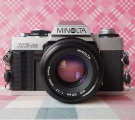 美能达Minotla XG-M(X-70)+MD 50/1.7 135胶片单反相机 银色X700