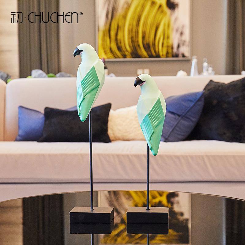 创意北欧个性客厅酒柜家居装饰品摆设鸟摆件简约现代ins结婚礼物