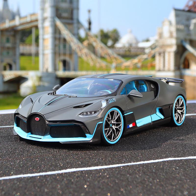 比美高1 18布加迪divo车模原厂仿真汽车模型合金收藏跑车摆件模型