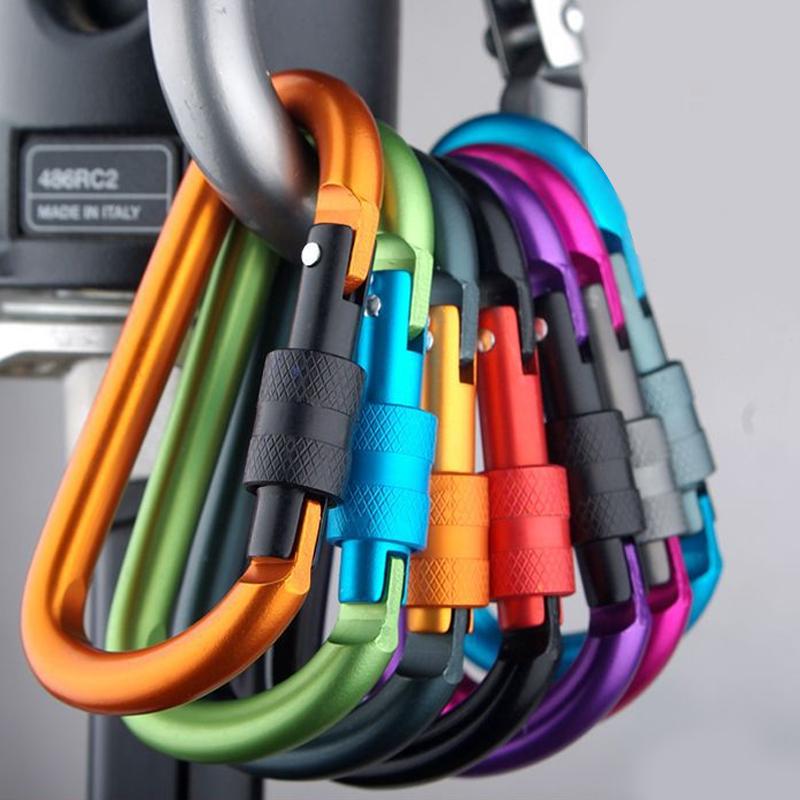 5个背包D型挂扣快挂户外多功能登山扣装备挂钩钥匙扣水壶铝合金