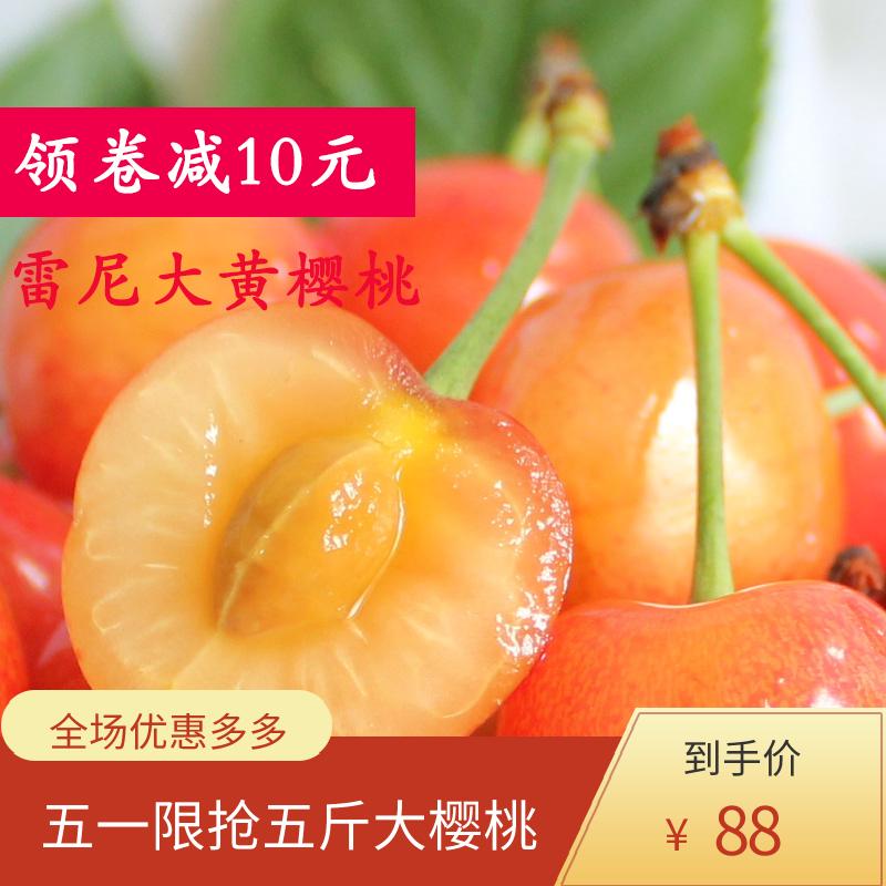 烟台 大黄 蜜樱桃 新鲜 露天 黄水晶 樱桃 大樱桃