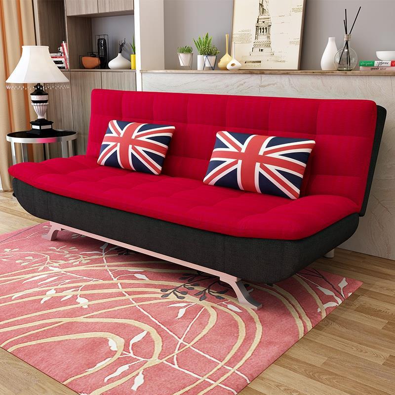 婚房深灰色多功能沙发床折叠两用抖音同款深蓝色中式长款欧式金色