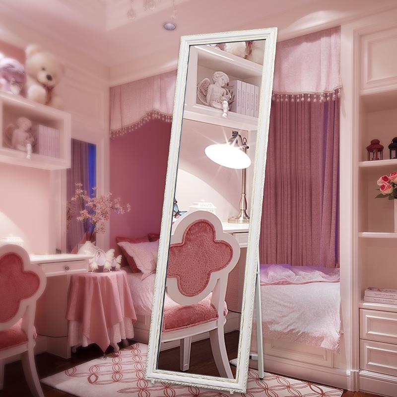 实木全身镜子欧式落地镜挂墙卧室家用穿衣镜服装店学生宿舍试衣镜