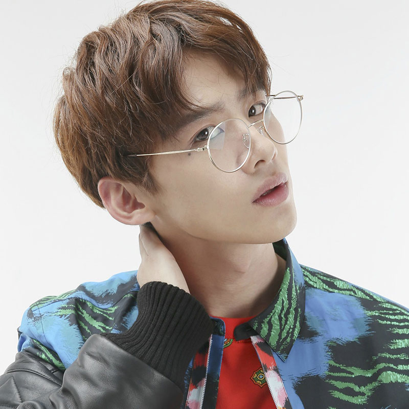 防辐射抗蓝光眼镜框男潮电脑护眼近视眼睛女韩版无度数平面平光镜