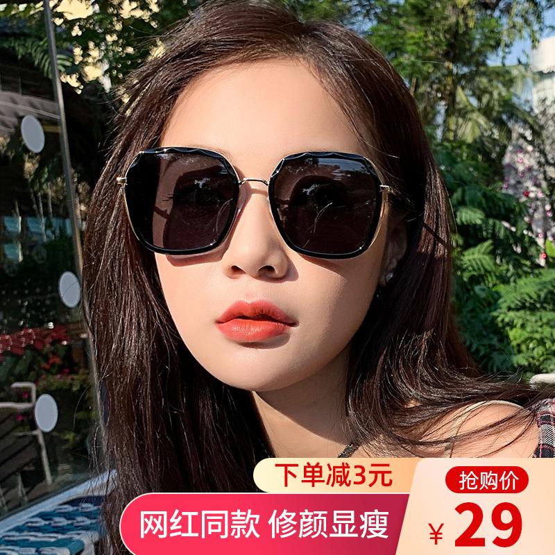 2020年新款ins墨镜女偏光太阳眼镜GM韩版潮圆脸防紫外线大脸显瘦