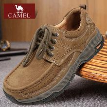 Camel/骆驼男鞋秋冬季低tu11真头层rx外鞋轻便男式休闲鞋子