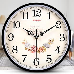 钟表挂钟客厅现代圆形简约时钟家用静音创意时尚挂表电子石英钟