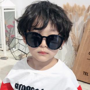 新款儿童复古太阳镜 夏季防紫外线男女童墨镜宝宝遮阳眼镜图片