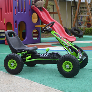 Children's go-kart four-wheeled beach buggy pedal baby can sit toy rubber inflatable tire pedal bike