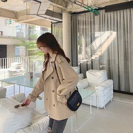 风衣女短款2020春秋新款韩版宽松学生英伦气质流行小个子风衣外套