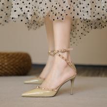 一代佳的高跟凉鞋女2md721新款cs细跟鞋单鞋尖头春秋百搭女鞋